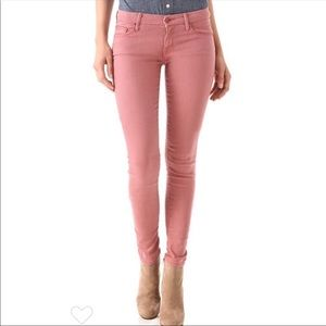 Mother Old Rose The Looker Skinny Jeans